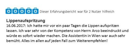 Docfinder Bewertung Lippenvergrößerung